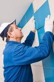 Travailleurs de la construction au travail Photo libre de droits