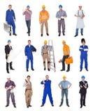 Travailleurs de la construction industriels Photos libres de droits