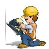 Travailleurs de la construction - Nailling Images stock