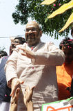 Travailleurs de partie de Bjp célébrant pendant l'élection dans l'Inde Images libres de droits