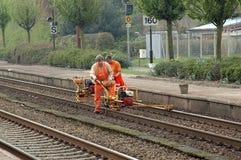 Travailleurs de rail Images stock
