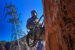 Travailleurs de statue qui ont construit le barrage de Hoover images libres de droits