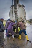 Travailleurs de système d'égouts Photographie stock libre de droits