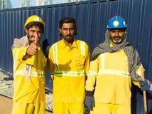 Travailleurs, Dubaï Image stock