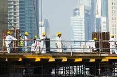Travailleurs, Dubaï Image libre de droits
