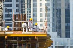 Travailleurs, Dubaï Photographie stock libre de droits