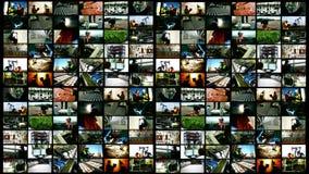 Travailleurs et écran divisé de production industrielle banque de vidéos
