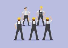 Travailleurs fâchés sur l'illustration de vecteur de grève illustration stock