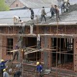 Travailleurs migrants Image libre de droits