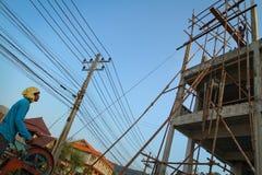 Travailleurs migrants du Cambodge Photo libre de droits
