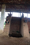 Travailleurs prenant un repos Photo libre de droits