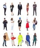 Travailleurs professionnels, homme d'affaires, cuisiniers, médecins, photo stock