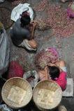 Travailleuse en Indonésie Photographie stock libre de droits