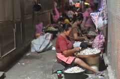 Travailleuse en Indonésie image libre de droits