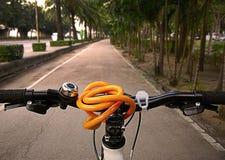 Traval med cykeln Fotografering för Bildbyråer