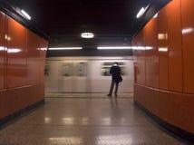 Travando o metro Fotografia de Stock Royalty Free