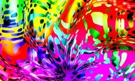 Travaux créatifs de fond abstrait multicolore Photo libre de droits