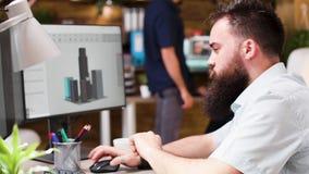 Travaux d'architecte dans le logiciel 3D pour améliorer la fondation banque de vidéos