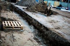 Travaux de construction à Amsterdam Images stock