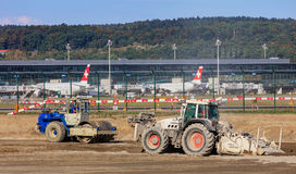 Travaux de construction à l'aéroport de Zurich Photographie stock