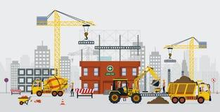 Travaux de construction illustration libre de droits