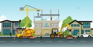 Travaux de construction illustration stock