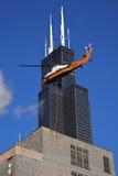 Travaux de construction Chicago du centre Image stock