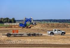 Travaux de construction dans l'aéroport de Zurich Photographie stock