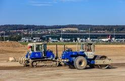 Travaux de construction dans l'aéroport de Zurich Image libre de droits