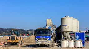 Travaux de construction dans l'aéroport de Zurich Images stock