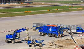 Travaux de construction dans l'aéroport de Zurich Photos libres de droits