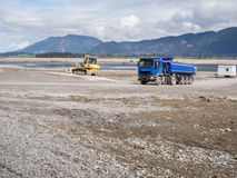Travaux de construction dans le Forggensee_blue Photo libre de droits