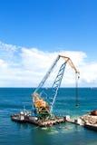 Travaux de construction dans le port Photos libres de droits