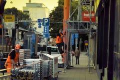 Travaux de construction et de municipal, travailleurs en cours de travail photo libre de droits