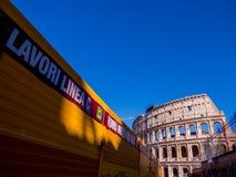 Travaux de construction, métro de Rome Photos libres de droits