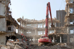 Travaux de démolition Photographie stock libre de droits