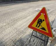 Travaux de route Images libres de droits