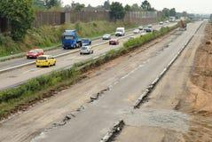 Travaux de route sur l'autoroute allemande photos stock