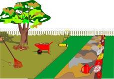 Travaux en cours de jardin Image stock