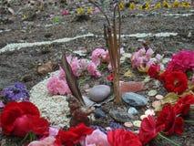 Travaux en spirale magiques, autel de wicca Religion païenne images libres de droits