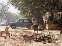 Travaux routiers secrets de Kolkata Image libre de droits