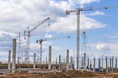 Travaux sur le chantier de construction photographie stock libre de droits