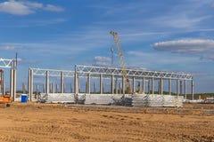 Travaux sur le chantier de construction photographie stock