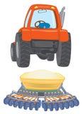 Travctor van het landbouwbedrijf met planter Stock Foto