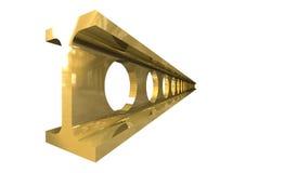 Trave d'acciaio dell'oro isolata Fotografia Stock Libera da Diritti