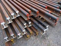 Trave di acciaio corrosa Fotografia Stock