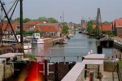Trave no canal Workumertrekvaart do theThe Fotografia de Stock