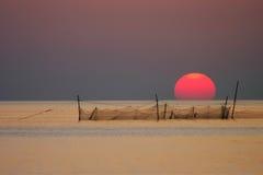 Trave o sol Imagens de Stock