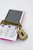 Trave o telefone Imagens de Stock