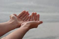 Trave pingos de chuva. Imagem de Stock Royalty Free